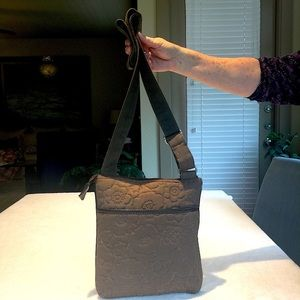 # Thirty-One Brown Cotton Quilted Crossbody